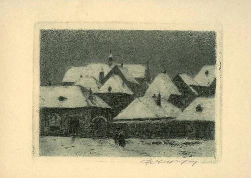 Helmuth Liesegang - Niederrhein Kleve im Winter sign. Orig.-Radierung 1920 Künstler Düsseldorf kopen? Bied vanaf 85!