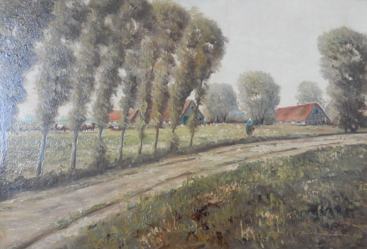 Carl Nöcker-Lang - Niederrhein-Landschaft, Ölgemälde 45x65 cm, signiert o.J. kopen? Bied vanaf 59!