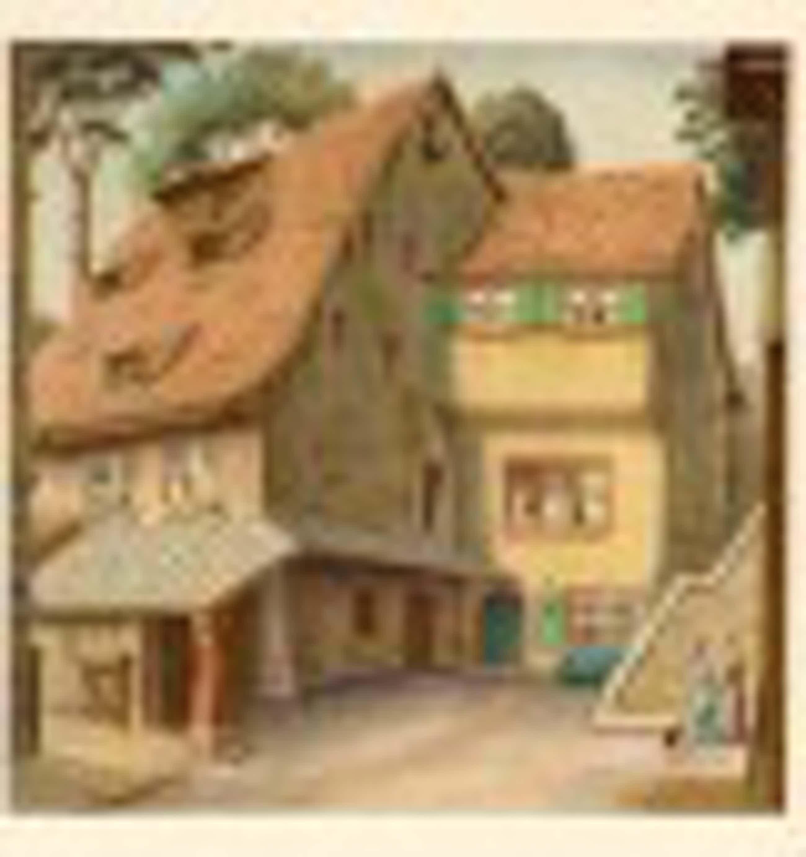 Niklaus Stoecklin - Niklaus Stoecklin, Farblithographie, Ansicht aus Basler Altstadt kopen? Bied vanaf 30!