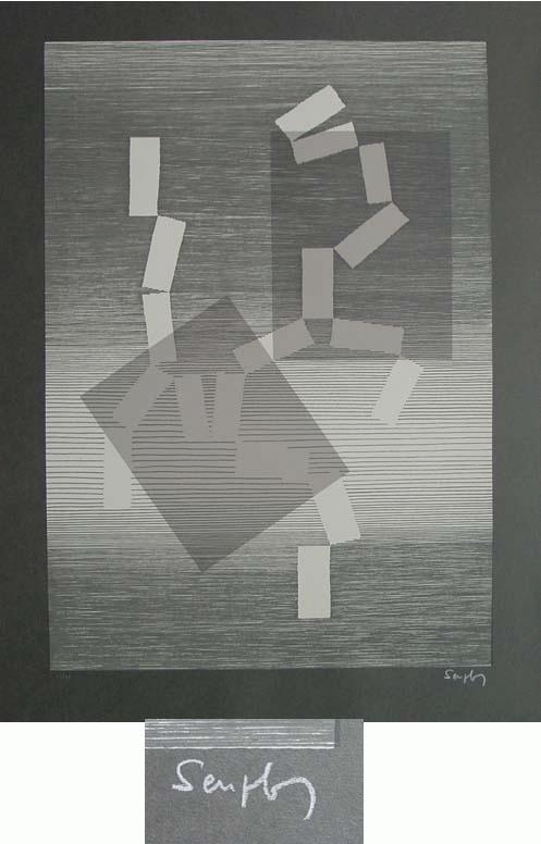 Michel Seuphor - - Nocturne - Farbserigrafie, handsigniert, numeriert, 1961 kopen? Bied vanaf 390!