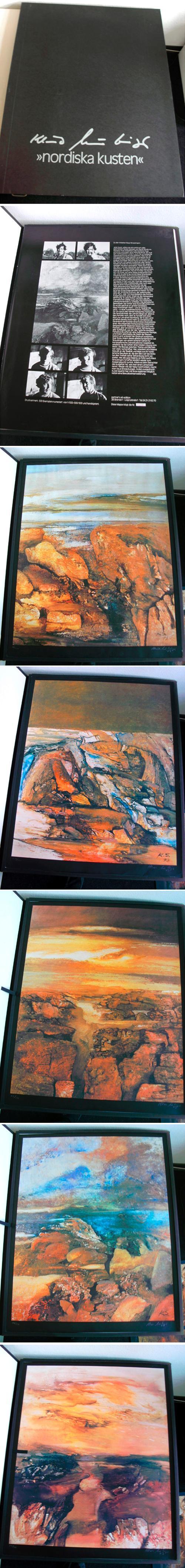 Klaus Straubinger - nordiska kusten. 5 Farbserigraphien in Kassette (108 x 86 cm). 1973. kopen? Bied vanaf 420!