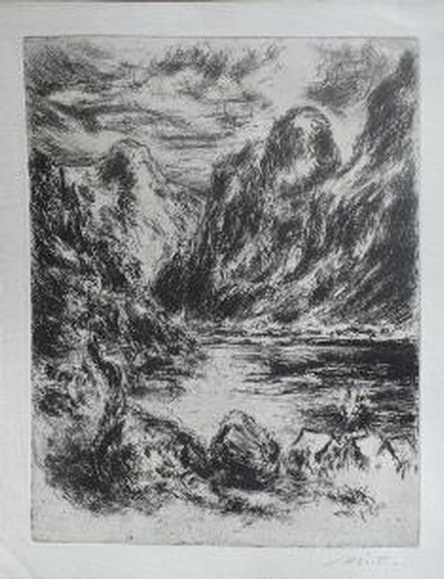 Hans Dietmann - Norwegische Fjord-Landschaft - 1969 kopen? Bied vanaf 45!