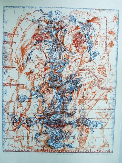 Bernhard Schultze - Nur ein Migof-Gedanke, Farblithografie, 1972, sign., numm. kopen? Bied vanaf 100!