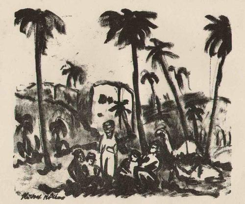 Rudolf Müller - - OASE - 1916 - OriginalLithographie des Künstlers der NOVEMBERGRUPPE & BERLINER SEZESSION kopen? Bied vanaf 78!