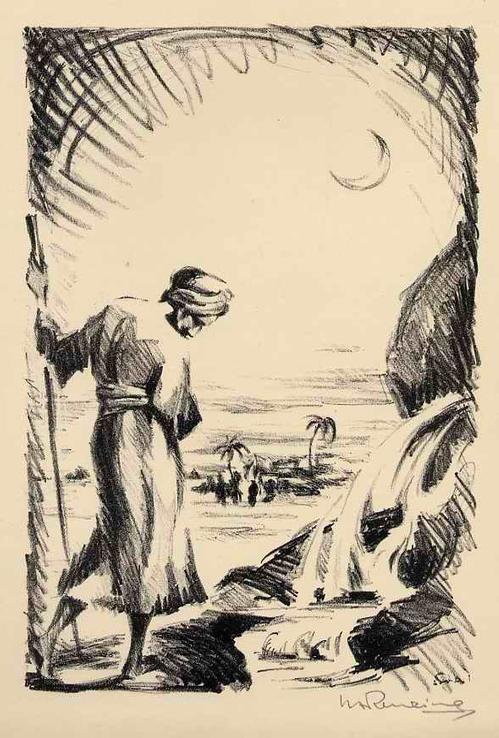 Walther Albert Renzing - OASE - Handsignierte OriginalLithographie des HAMBURGers der DÜSSELDORFer KUNSTAKADEMIE - 1925 kopen? Bied vanaf 45!