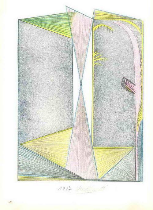 Otto Schwertl - OFFENE FASSADEN - Handsignierte OriginalZeichnung 1997 (KUNSTAKADEMIE MÜNCHEN) kopen? Bied vanaf 45!