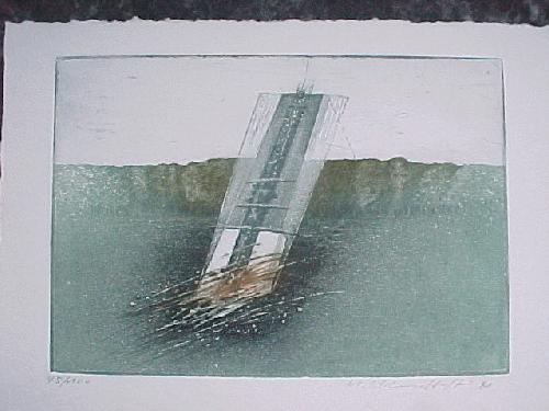 Michael Schmidt-Stein - Ohne Tite, Farbradierung 1981 mit Katalog kopen? Bied vanaf 50!