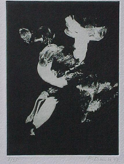 Franz Dank - Ohne Titel, Aquatintaradierung 1992, mit Katalog kopen? Bied vanaf 40!