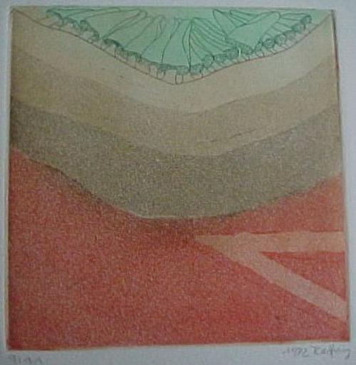 Horst Becking - Ohne Titel, Farbradierung 1972 kopen? Bied vanaf 50!