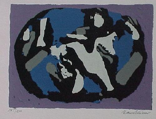 Hans Kuhn - Ohne Titel, Farbsiebdruck 1963 kopen? Bied vanaf 60!