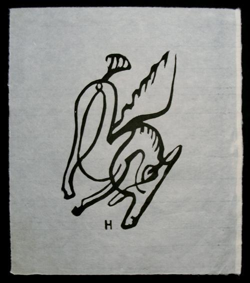 Raoul Hausmann - Ohne Titel. Holzschnitt, um 1950. kopen? Bied vanaf 100!