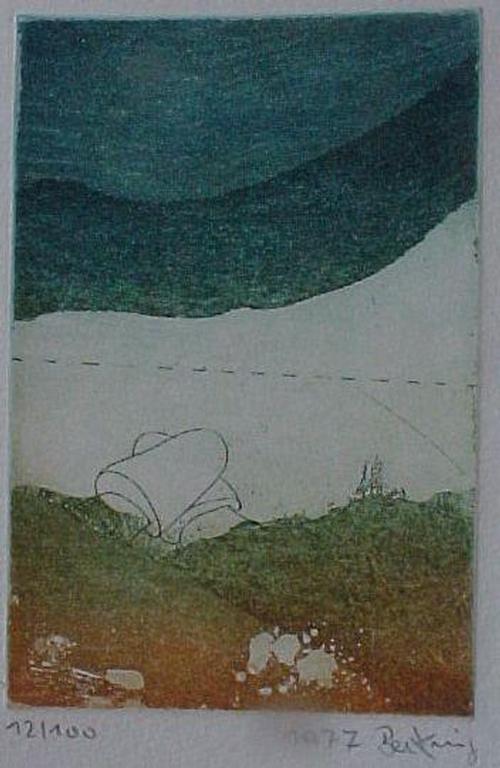 Horst Becking - ohne Titel, kleine Farbradierung 1977 kopen? Bied vanaf 50!
