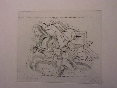 Alfonso Hüppi - Ohne Titel, (Motiv II), Radierung 1969/80 kopen? Bied vanaf 60!