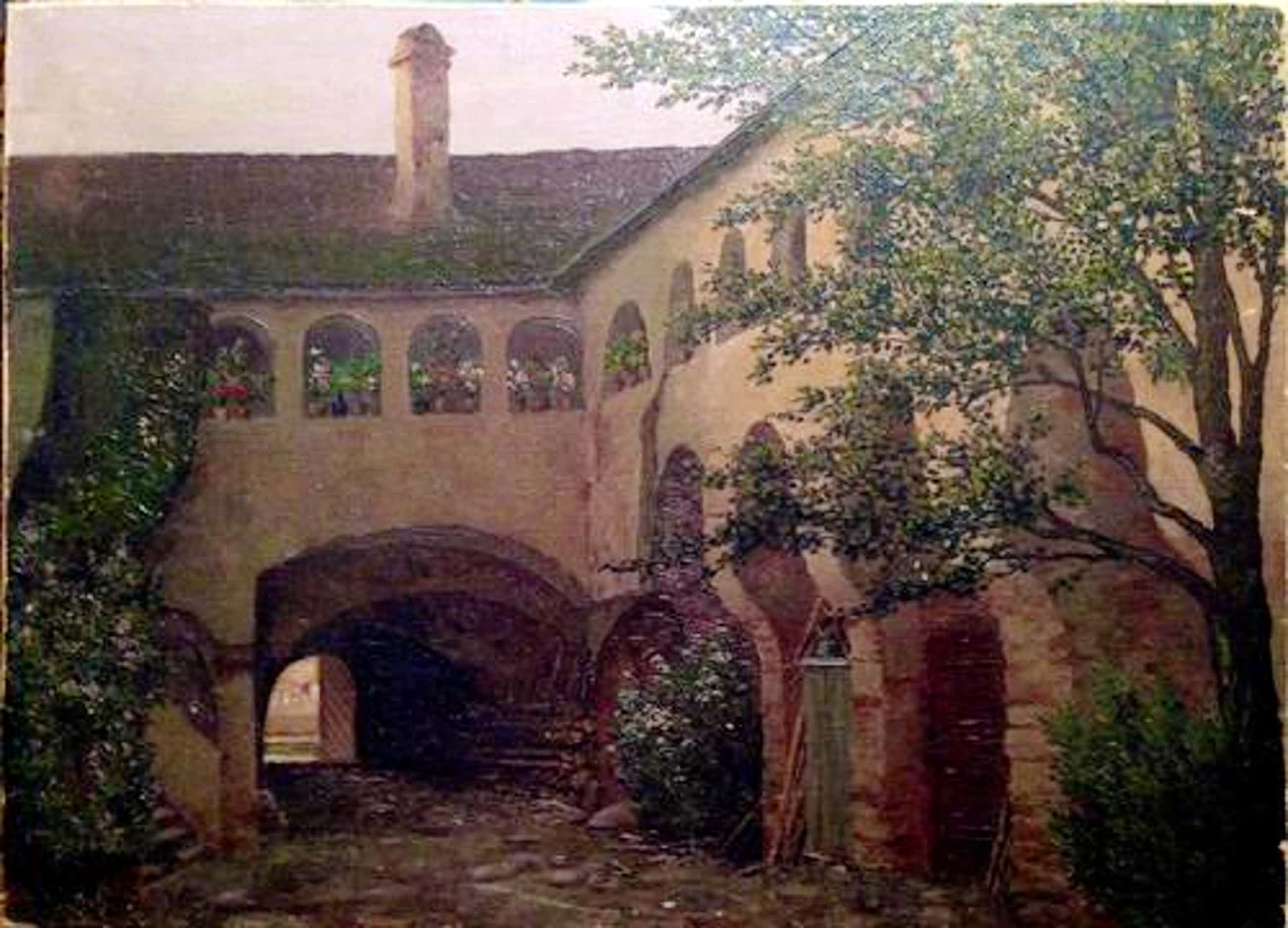 Karl Zach - Öl auf Leinwand Schloss kopen? Bied vanaf 880!
