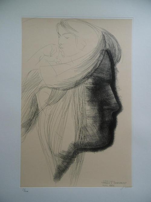 Emilio Greco - Ommagio a Michelangelo, Original-Radierung von 1975, Ex. 5/200 kopen? Bied vanaf 450!