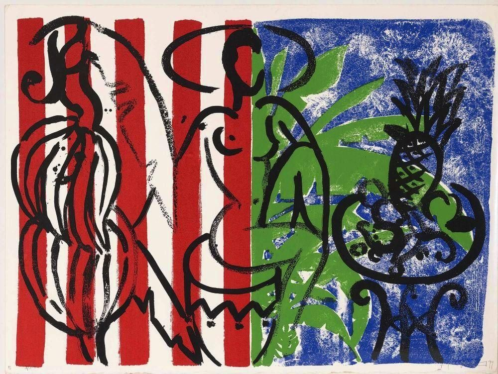 Stefan Szczesny - Orginal Farbserigraphie Banana in Stripes 1999 kopen? Bied vanaf 340!