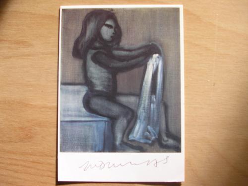 Marlene Dumas - Orginalautogramm auf Kunstpostkarte mit rückseitiger Orginal-Zeichnung und Text kopen? Bied vanaf 650!