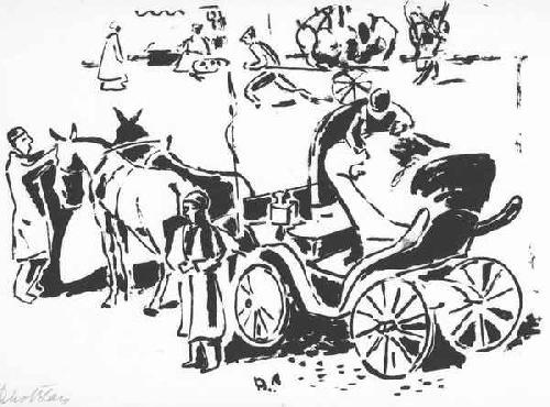 Rico Blass - ORIENTAL SCENE in JAFFA - Handsignierter OriginalSiebdruck des Otto MÜLLER-Schülers aus BRESLAU kopen? Bied vanaf 65!