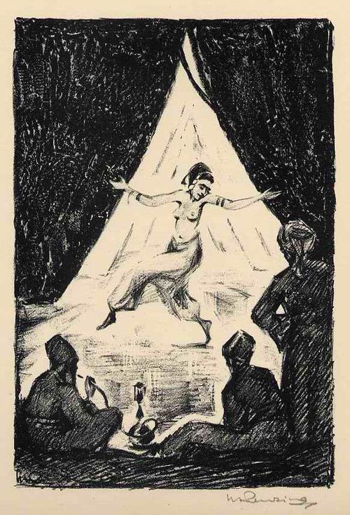 Walther Albert Renzing - ORIENTALISCHE TÄNZERIN - Handsignierte OriginalLithographie 1925 (DÜSSELDORFer Kunstakademie) kopen? Bied vanaf 45!