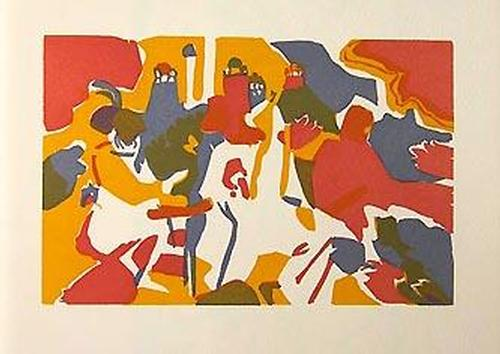 Wassily Kandinsky - Orientalisches. Original-Farbholzschnitt 1913, Roethel 106 kopen? Bied vanaf 88!