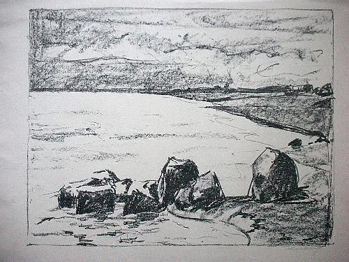 Bruno Karberg - Orig. Lithographie 1939, signiert, AM WASSER kopen? Bied vanaf 40!
