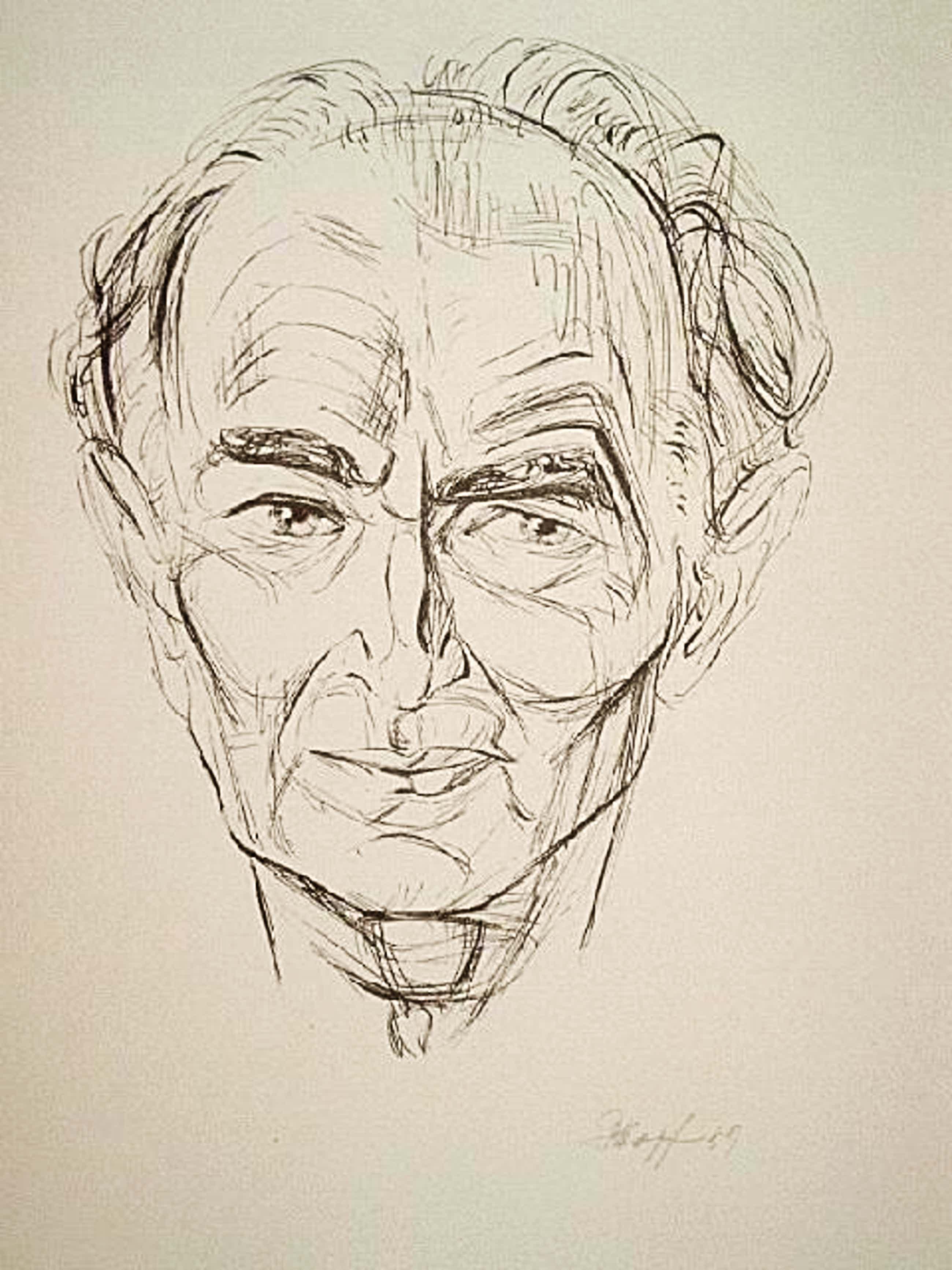 Eduard Hopf - Orig. Lithographie 1959, Bildniss Johannes Böse&quot, signiert & datiert kopen? Bied vanaf 30!