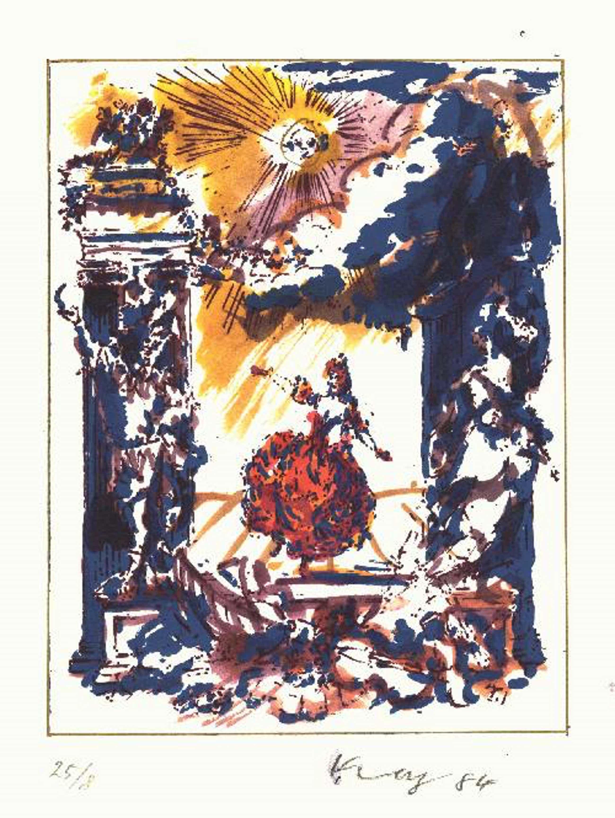 Helmut Koniarsky - Orig. Lithographie 1984, colloriert, signiert, datiert & nummeriert 25/8 kopen? Bied vanaf 30!