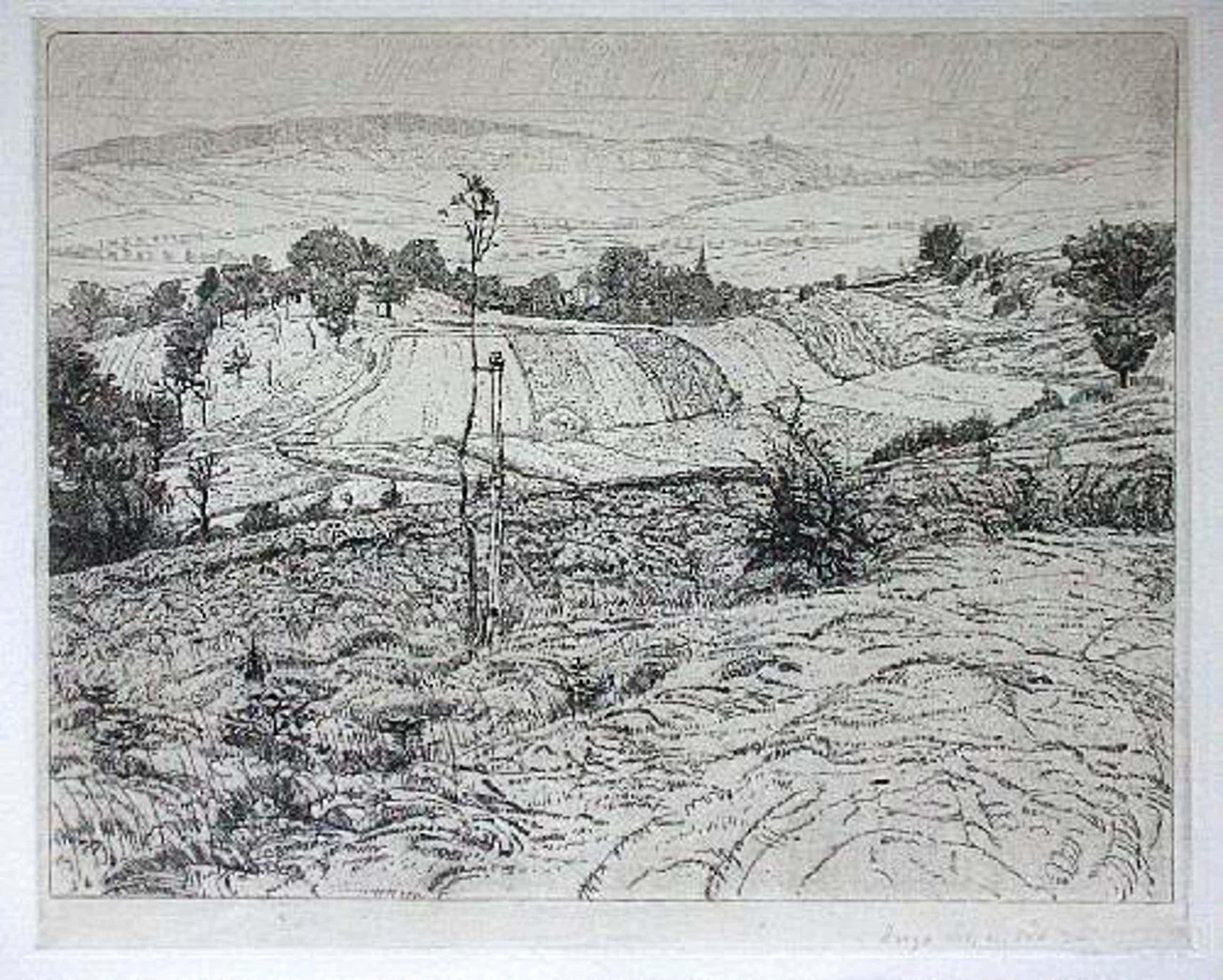 Hugo Schmidt - Orig. Radierung 1935, Mitteldeutsche Landschaft, signiert kopen? Bied vanaf 50!