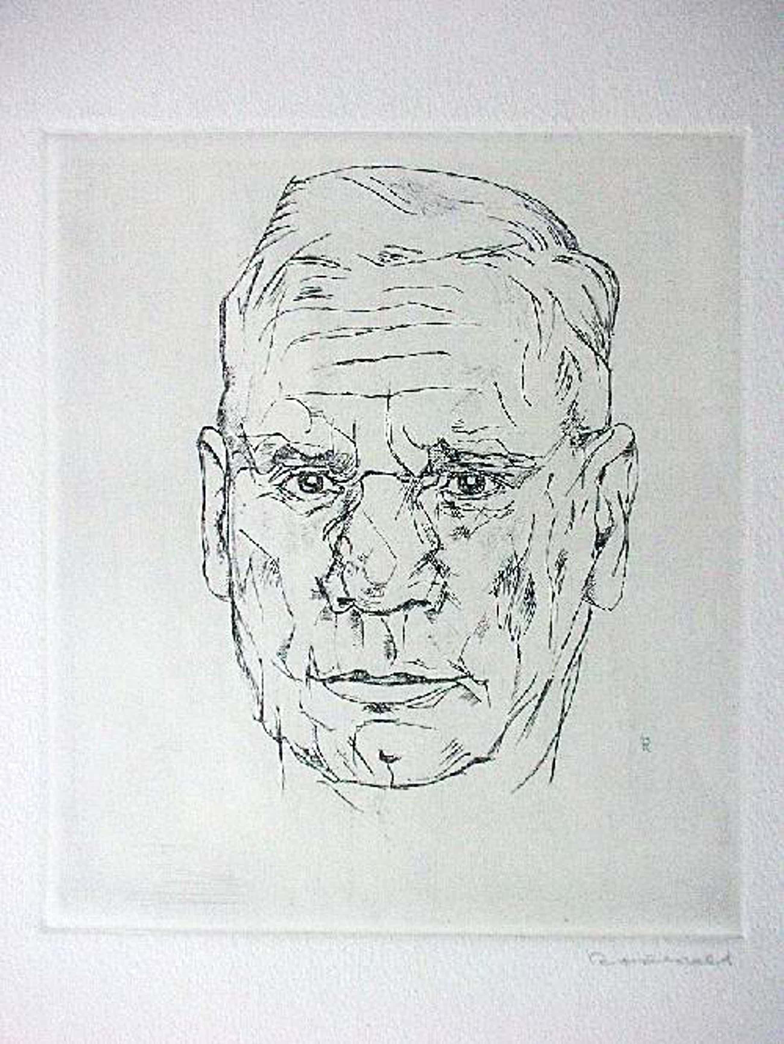 Otto Rodewald - Orig. Radierung 1958, signiert, Bildnis Bürgermeister Brauer (Hamburg) kopen? Bied vanaf 40!