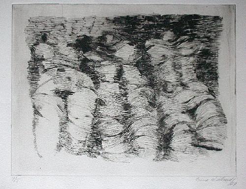 Irma Weiland - Orig. Radierung 1967, Drei Akte, signiert, 4/5 kopen? Bied vanaf 50!