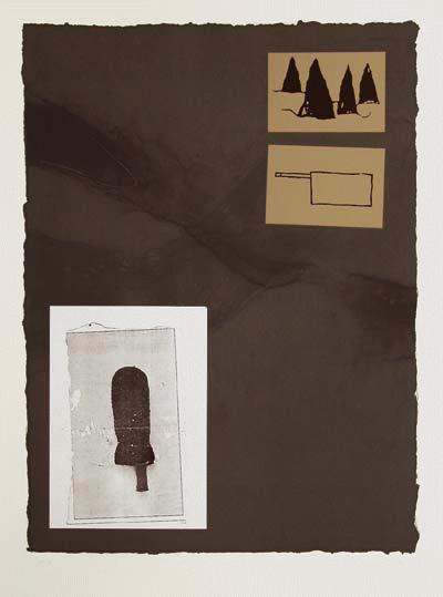 Juliano Sarmento - Original-Farblithographie mit Collage, signiert, numeriert und datiert, 1987 kopen? Bied vanaf 390!