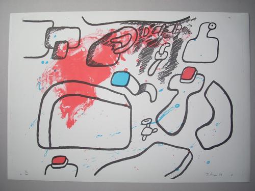 Joachim Senger - Original-Farblithographie von 1973, handsigniert, datiert und nummeriert, Ex. 23/100 kopen? Bied vanaf 45!