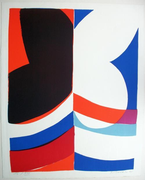 Bernd Völkle - Original Farbserigrafie o.T.. 1968 kopen? Bied vanaf 420!