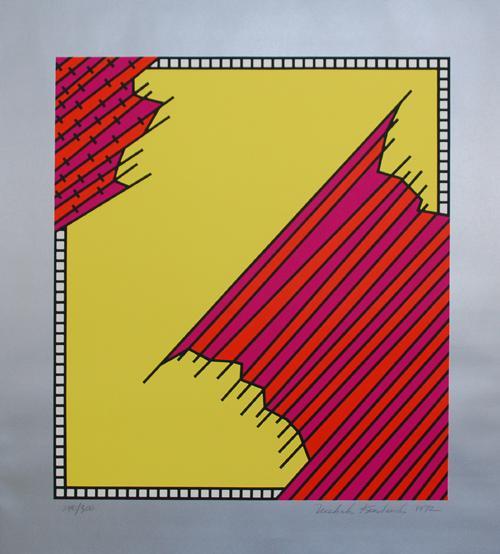 Nicholas Krushenick - Original Farbserigraphie auf Bütten, handsigniert, datiert und numeriert von 1972 kopen? Bied vanaf 290!