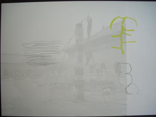 Jurgen Partenheimer - Original-Farbserigraphie auf Offsetlitho mit Farbe übearbeitet, 2001, verso handsign., Ex. 17/100 kopen? Bied vanaf 95!