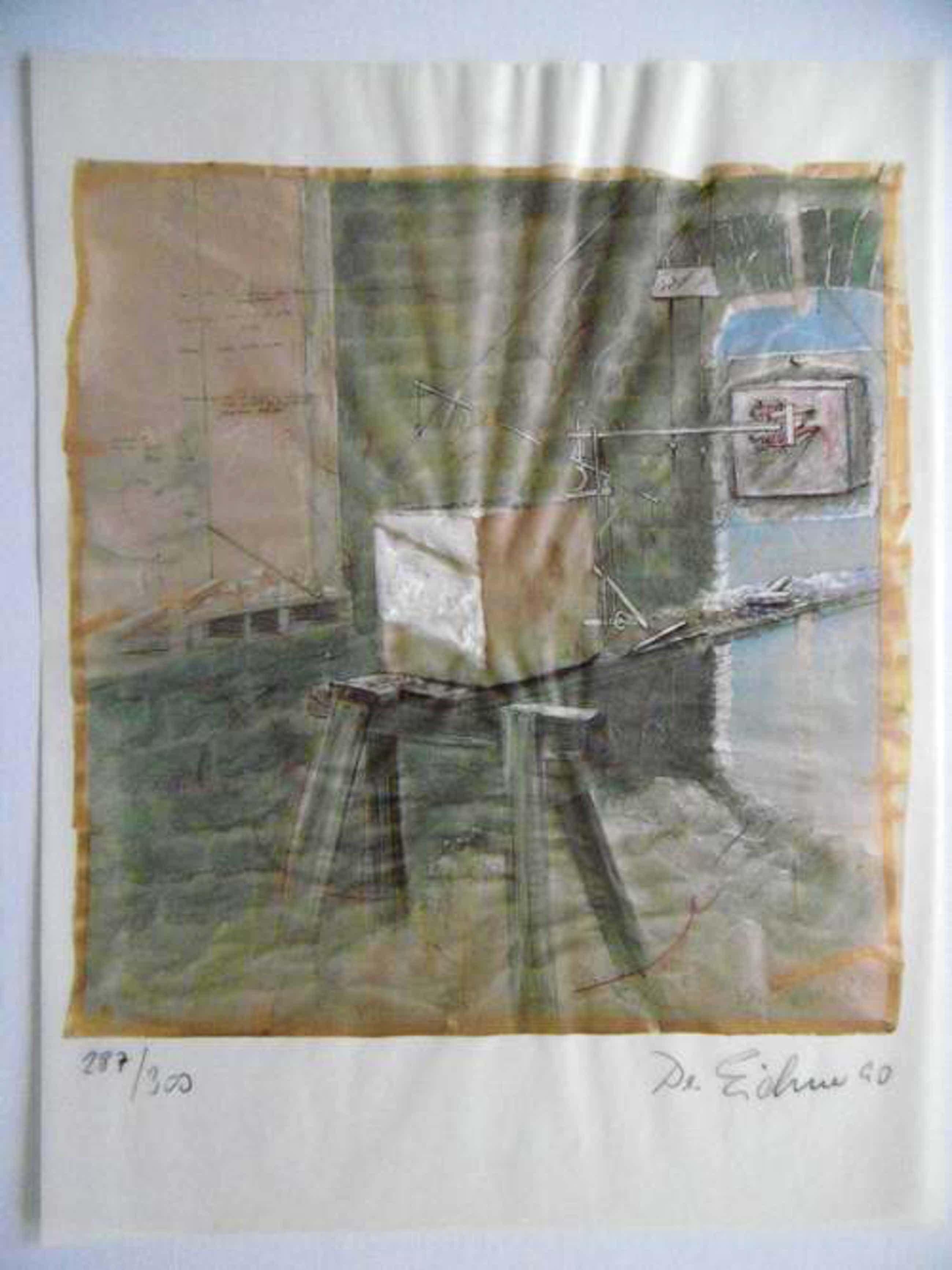 Hellmuth Eichner - Original-Graphik, handüberarbeitet, serielles Unikat, 1990, handsigniert, datiert und nummeriert kopen? Bied vanaf 125!