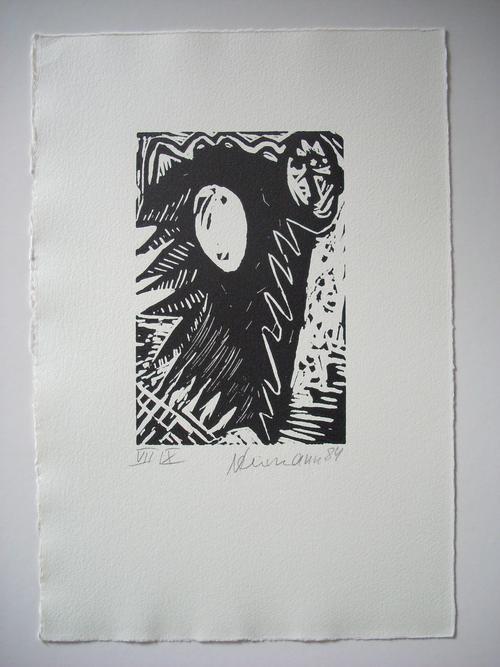 Hartmut neumann - Original-Holzdruck von 1989, handsigniert , datiert und nummeriert, Ex. VII / X kopen? Bied vanaf 95!