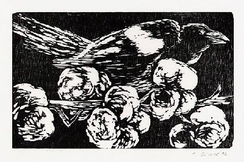 Claus Korsch - Original-Holzschnitt, 1992 datiert, handsigniert - Für MEDIZINISCHE BLÄTTER der Fa.SCHERING kopen? Bied vanaf 25!