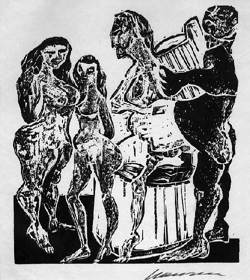Karl-Heinz Hansen-Bahia - Original-Holzschnitt zu VILLONs BALLADEN - 1963,signiert, num. - eins von 20 Exemplaren kopen? Bied vanaf 85!