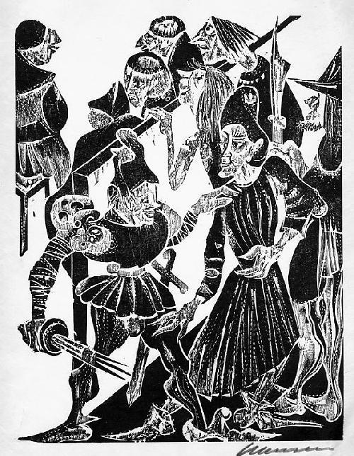 Karl-Heinz Hansen-Bahia - Original-Holzschnitt zu VILLONs BALLADEN - 1963,signiert, num. - eins von 20 Exemplaren kopen? Bied vanaf 95!