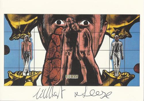"Gilbert & George - Original KPK / Multiple "" Human"" von GILBERT & GEORGE Maße ca. 15 x 10,5 cm kopen? Bied vanaf 40!"