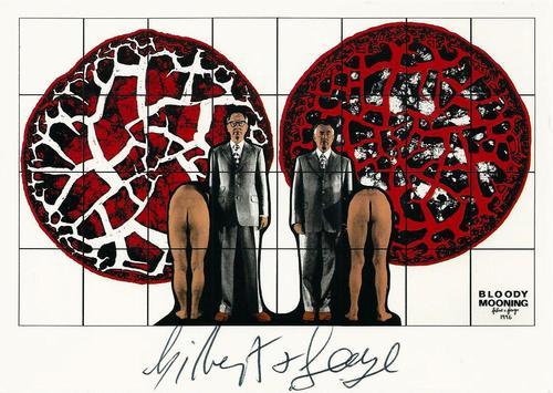 """Gilbert & George - Original KPK / Multiple """"Bloody Mooning"""" von GILBERT & GEORGE. Maße ca. 15 x 10,5 cm kopen? Bied vanaf 40!"""