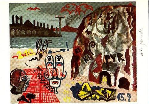 "A.R. Penck - Original KPK / Multiple ""Naives Bild Nr. 1"" von A.R. PENCK. Maße ca. 15 x 10,5 cm kopen? Bied vanaf 65!"