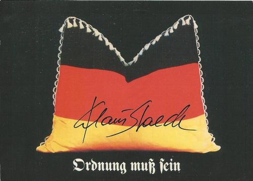 """Klaus Staeck - Original KPK / Multiple """"Ordung muß sein """" von KLAUS STAECK. Maße ca. 15 x 10,5 cm kopen? Bied vanaf 30!"""
