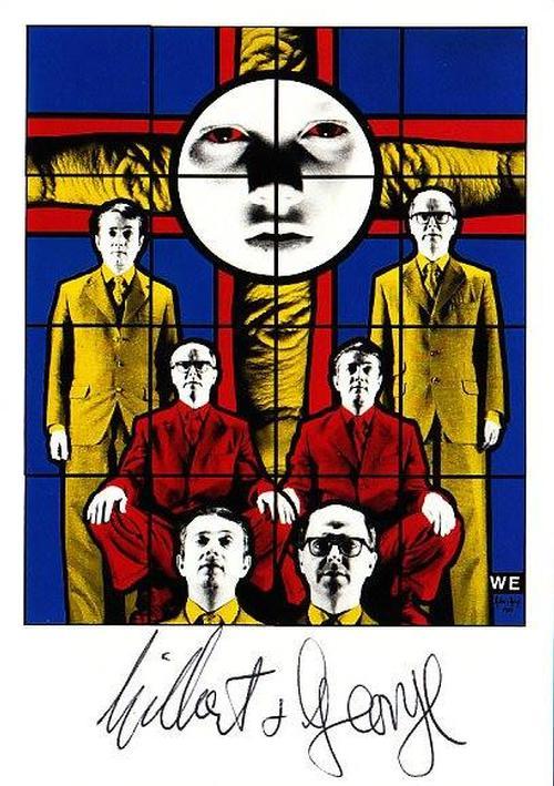 """Gilbert & George - Original KPK / Multiple """"We"""" von GILBERT & GEORGE. Maße ca. 15 x 10,5 cm kopen? Bied vanaf 40!"""