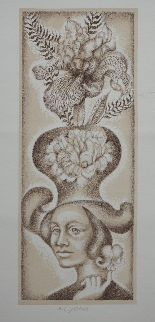 Josef Ladislav Jicha - Original-Lithographie Klobouk signiert kopen? Bied vanaf 10!