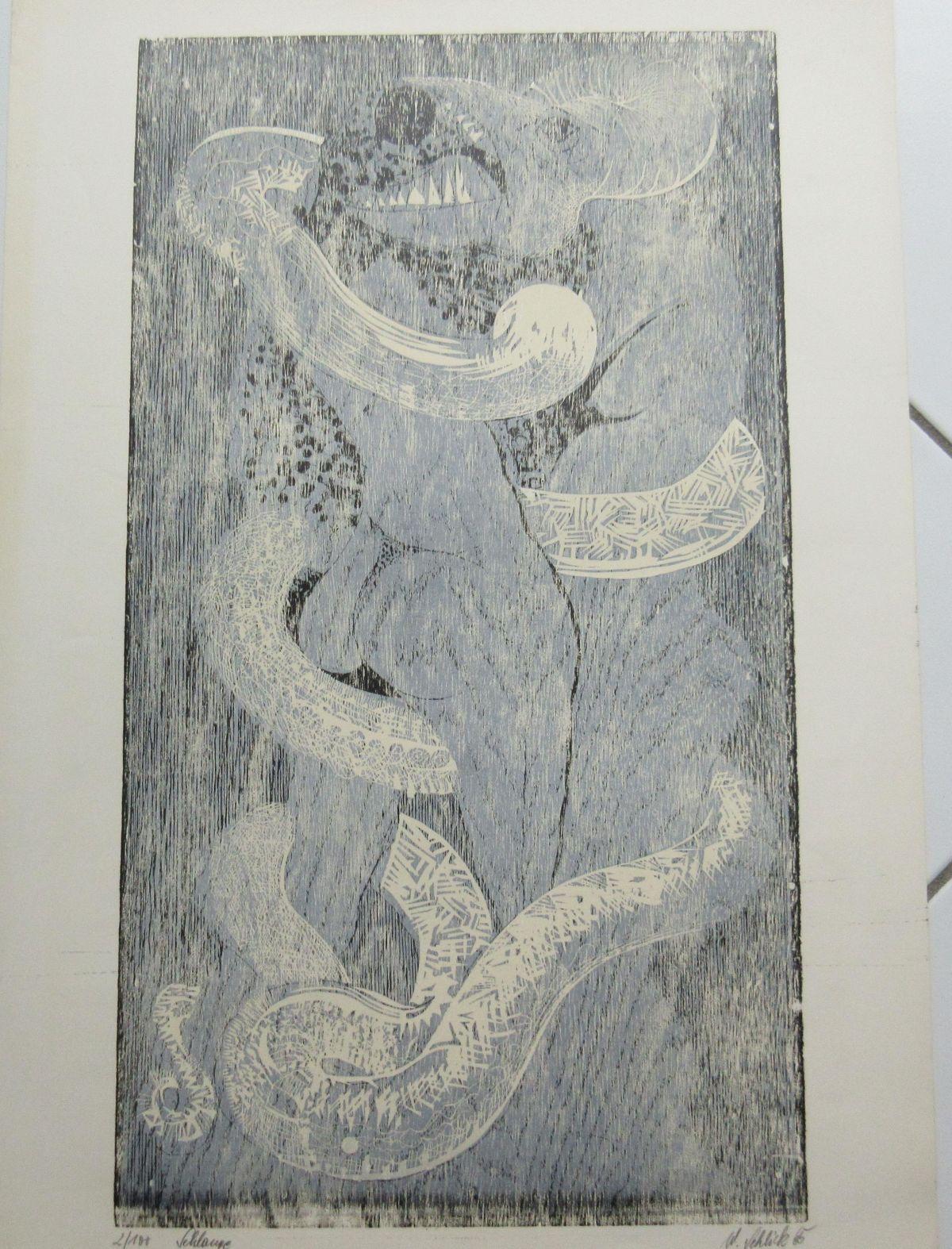"Wolfgang Schlick - Original Lithographie "" kopen? Bied vanaf 30!"