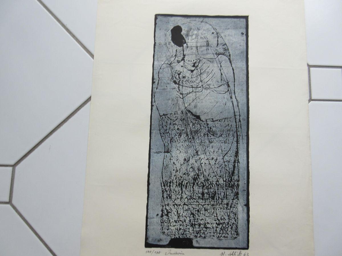 "Wolfgang Schlick - Original Lithographie ""Inderin"" kopen? Bied vanaf 30!"