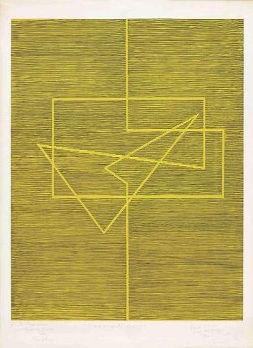 Michel Seuphor - Original-Lithographie von 1977, handsigniert und nummeriert, Exemplar-Nr. 67/100 kopen? Bied vanaf 195!