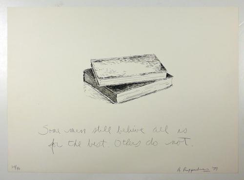 Allan Ruppersberg - Original-Lithographie von 1978 (!), sign., datiert, nummeriert und betitelt kopen? Bied vanaf 295!